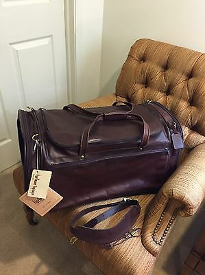 """Hartmann Luggage Belting Leather XL Rare 25"""" Outing Bag Duffel Carry On Gym Bag"""