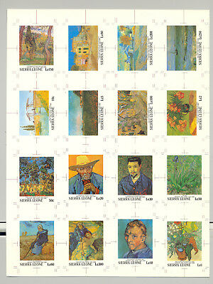 Sierra Leone #1365-1380 Van Gogh, Art 16v Imperf Chromalin Proofs