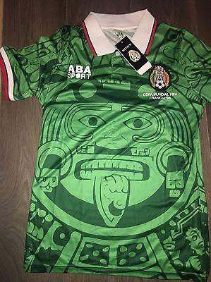 Mexico Retro Shirt 1998 World Cup Shirt Medium