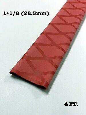 "2PCS 4 FT 1+1//4/"" 32mm RED BLUE Heat Shrink Sleeve Wrap Tubing Rod handle Cork"