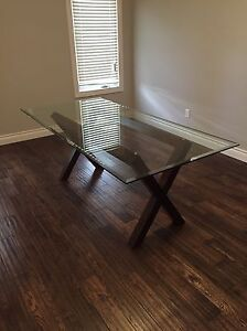 Glass table  (6 seater)