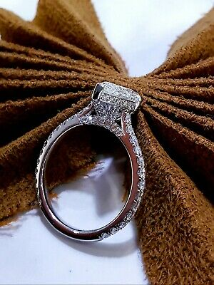 Lovely 1.60 Ct. Pear Cut Diamond Under Halo Pave Engagement Ring H,VS2 GIA 14K 1