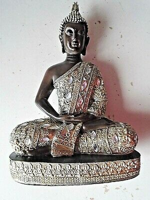 very nice Meditation Buddha Statue on velour base stands 32cms high 22 cms wide