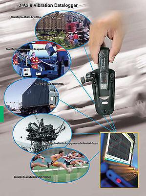 3-axis Vibration Datalogger Cem Dt-178a Accelerometer 18g 4 Mb Memory 1000 Hours