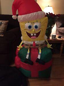 Fun SPONGEBOB SQUAREPANTS Inflatable Christmas decor  4ft tall