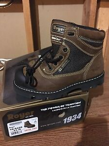 Royer steel toe work boots