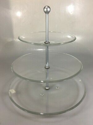 Caldier 3 Tier Tidbit Tray Hostess Cookie Appetizer Plate 13