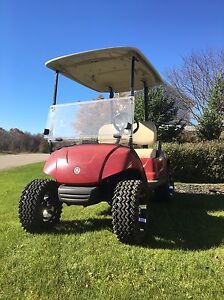 Gas Golf cart 2008 Yamaha lifted  with rims tires