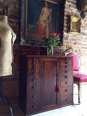 Stunning Antique Cabinet Estate Haberdashery Shop Mahogany Victorian19th Century
