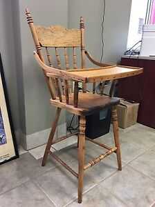 Antique wooden high chair  London Ontario image 1