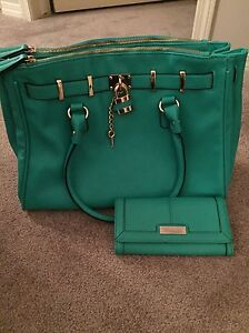 Green Purse and Matching Wallet
