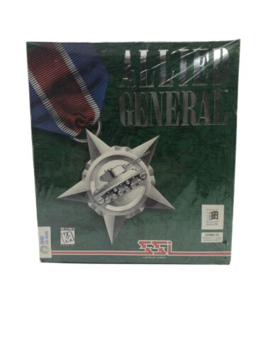 Computer Games - SSI Computer Wargame  Allied General VG+ Free Shipping!