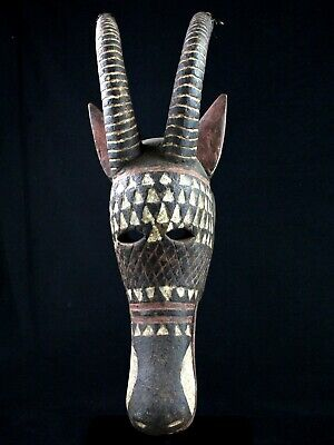 Used, Art African Tribal - Large Mask Nyanga - Ethnic Boho Burkina Faso - 72 CMS for sale  Shipping to Canada
