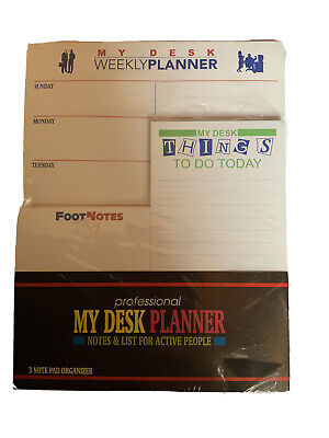 Weekly Desk Planner To Do Notes 3 Note Pad Organizer Lot New Sealed Undated