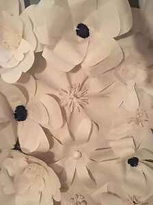 Beautiful Paper Flower backdrop for Wedding