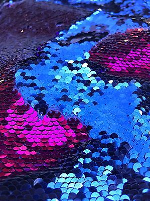 Ткань 5mm Mermaid Sequins Fuchsia Pink/Blue