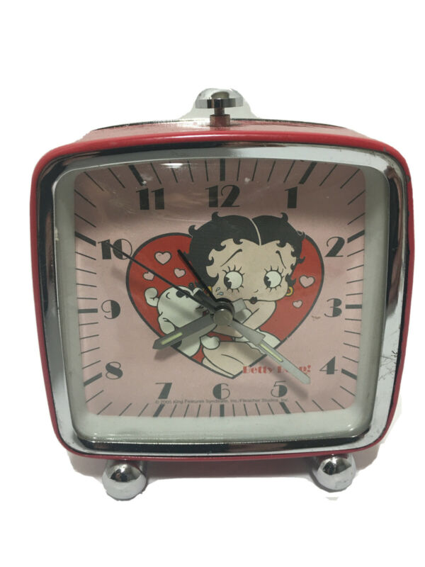 "BETTY BOOP RETRO ALARM CLOCK - REQUIRES ""AA"" BATTERY Pre-owned"