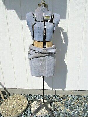 Antique Vintage Acme Adjustable Lm Dress Form W Stand Mannequin Size Jr Junior