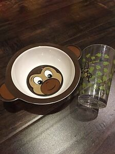 Monkey bowl and cup