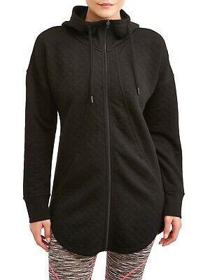 Athletic Works  Women's Small  Zip Up Hoodie/Hooded Quilted  Sweatshirt Jacket -