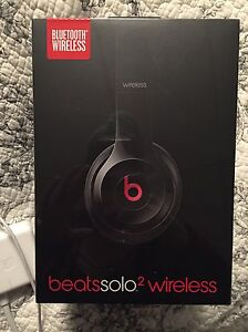 Beats Solo2 Wireless.  Glossy Black, Brand New, Never Used