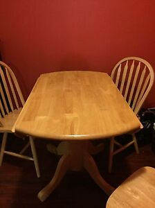 Solid Wood Table & Chairs Set