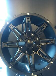 "18x9 metal mayhem rims with 33x12.5"" tires Strathcona County Edmonton Area image 2"