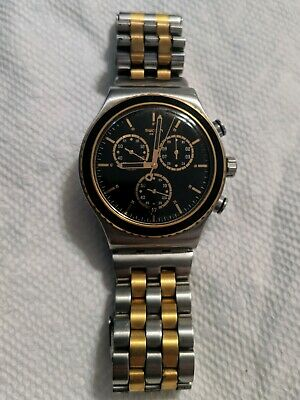 Swatch Men's watch two tone (Gold & Silver) Swiss made 4 jewel