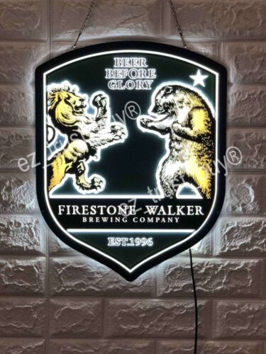 New Firestone Walker Brewing Beer Before Glory Logo 3D LED Neon LIght Sign 17""
