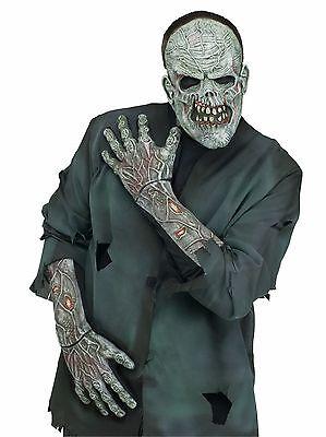 Long Zombie Skeleton Gloves Adults 3D Bones Hands Mens Womens Skull Hand - Zombie Hands