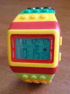 Lego Brick Adjustable Wrist Watch, DIGITAL WATCH, ADJUSTABLE WRIST BAND UNISEX