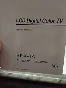 Sony Bravia KDL-52XBR3  London Ontario image 2