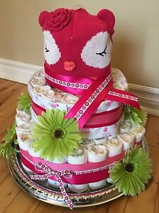 3 Tier Baby Owl Diaper Cake  London Ontario image 1