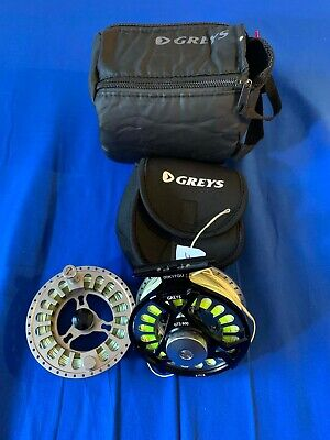 GREYS GTS600 FLY REEL WITH SPARE SPOOL AND GOOD WF-7 FLY LINES