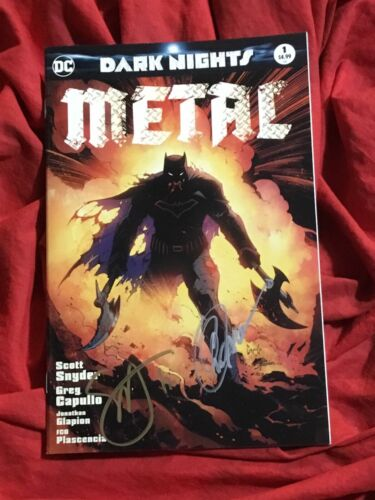 DARK NIGHTS METAL #1~CSA BATMAN VARIANT~SIGNED BY SCOTT SNYDER+GREG CAPULLO~