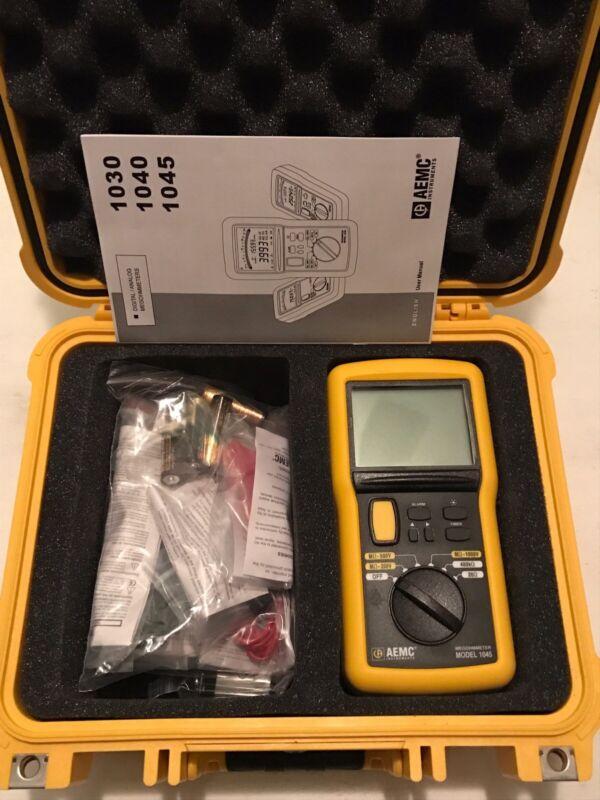 AEMC 1045 9-Piece Megohmmeter Field Kit with Meter Leads Probes Case 2117.31