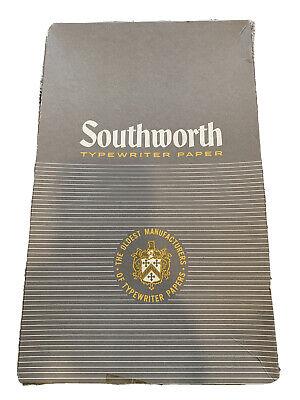 "Vintage 130 Sheets 403E SOUTHWORTH 8.5 x 14"" Typewriter Paper Four Star 20lb"