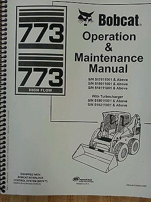 Bobcat 773g Skid Steer Loader Operators Operation Maintenance Manual 6900842