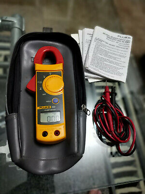 Fluke 322 Digital Clamp Multimeter With Leads 600v Max Cat Iii Case