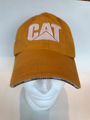 CATERPILLAR CAT BASEBALL HAT CAP Strapback Adjustable Safety Yellow