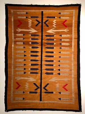 SUPER ANTIQUE NAVAJO PICTORIAL RUG,INCREDIBLE BRYCE CANYON VARIEGATED COLORS,NR!