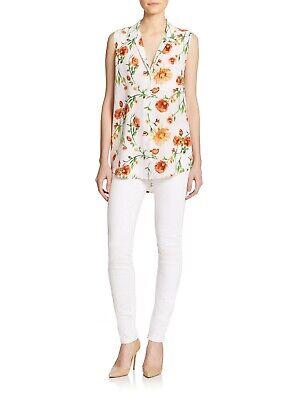EQUIPMENT FEMME Sleeveless 'Keira' Floral Silk Blouse Size S