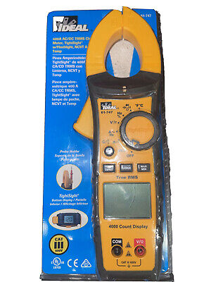 Ideal 61-747 Digital 600-volt Clamp Meter Battery Included - New