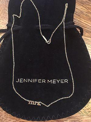 """Jennifer Meyer """"mrs."""" Gold Necklace"""