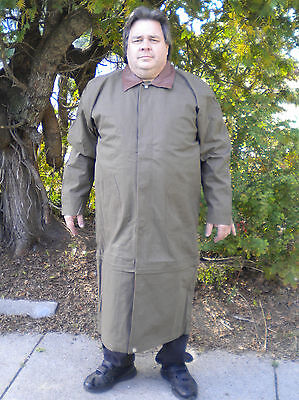 Men's Extra Long Small to XXL All Weather Duster Trench Coat W/Liner (All Weather Trench Coat)