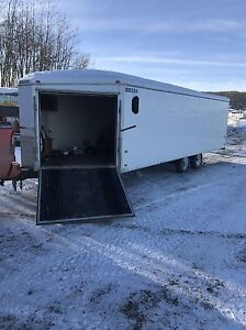 Enclosed 4 place snowmobile trailer