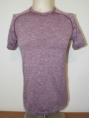 Men's Lululemon Metal Tech Short Sleeve Crew Neck T-Shirt Heathered Purple Small