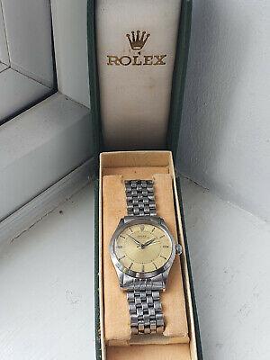 VERY RARE GENTS 1957 ROLEX OYSTER PERPETUAL WATCH IN THE ORIGINAL ROLEX BOX