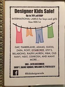 KIDS DESIGNER CLOTHING SALE - up to 70% off RRP !!! Perth Perth City Area Preview