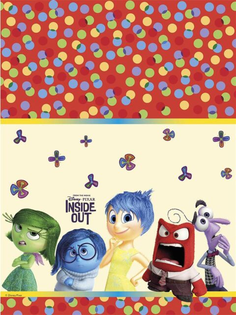 Inside Out Plastic Tablecover 1.2x1.8m - Disney Pixar Birthday Party Tableware